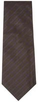 Chanel Vintage Brown Stripe Silk Tie