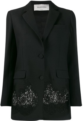 Valentino Lace Panel Blazer