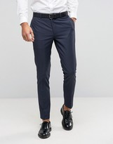 Asos Skinny Suit Trousers With Tonal Design
