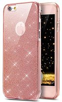 "iPhone 7 Plus Case, PHEZEN [Full Body Coverage] Front and Back 360 Degree Protective Case Bling Glitter Sparkly Shockproof Ultra Thin TPU Silicone Gel Case Cover For iPhone 7 Plus 5.5"" (Pink)"