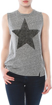 Sundry Muscle Tank With Distressed Star