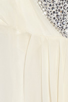 Jenny Packham Swarovski crystal-embellished silk-chiffon chemise
