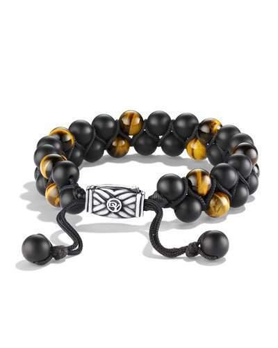 David Yurman Spiritual Beads Bracelet with Black Onyx and Tiger's Eye