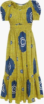 Ulla Johnson Isla Printed Cotton-poplin Midi Dress
