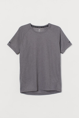 H&M Regular Fit Running Shirt - Gray