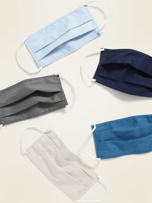 Old Navy Variety 5-Pack of Triple-Layer Cloth Pleated Face Masks for Adults
