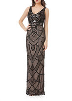 JS Collections Art Deco Beaded Gown
