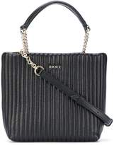 DKNY quilted pinstripe tote