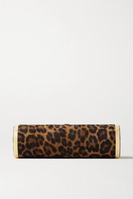 Hunting Season Roll Leopard-print Suede Clutch - Leopard print
