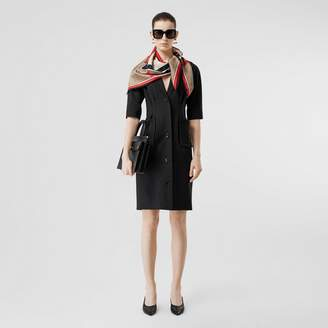 Burberry Short-sleeve Stretch Wool Dress