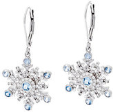 Hallmark Sterling Cubic Zirconia Snowflake Dangle Earrings