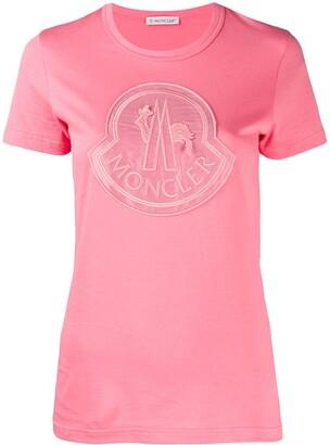 Moncler large chest logo T-shirt