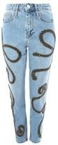 Topshop Limited Edition MOTO Rope Embellished Mom Jeans