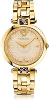 Versace Crystal Gleam Gold Women's Watch w/Ivory Guilloché Dial