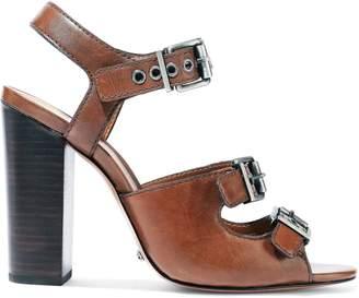 Schutz Tristan Buckled Leather Sandals