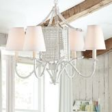 Pottery Barn Teen Welsey Cage Chandelier, White