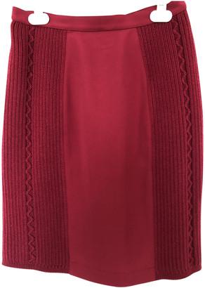 Thierry Mugler Burgundy Wool Skirts