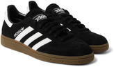 adidas Spezial Leather-trimmed Suede Sneakers - Black