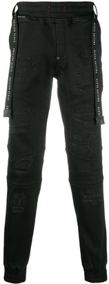 Philipp Plein Embroidered Skull Jogging Jeans