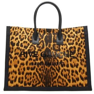 Saint Laurent Leopard-print Canvas Tote Bag - Leopard