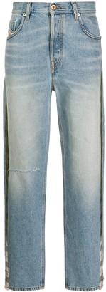 Diesel D-Deepcheckdenim mid-rise straight jeans