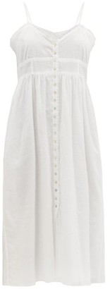 Loup Charmant Avalon Ruffled Cotton-voile Dress - White