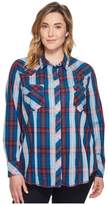 Roper Plus Size 1253 Cider Check Women's Long Sleeve Pullover