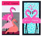 Betsey Johnson Flamingo Luv Beach Towel Set