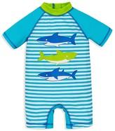 Little Me Boys' Shark Rash Guard Swim Romper - Baby