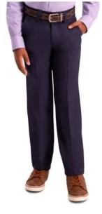Haggar Husky Boys Cool 18 Pro, Slim Fit, Flat Front Pant