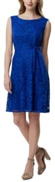 Tahari ASL Side-Tie Lace Dress