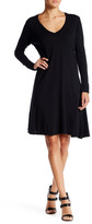 C&C California Emmie Long Sleeve Trapeze Dress