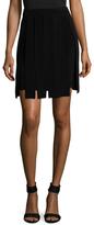 Cushnie et Ochs Silk Crepe Carwash Fringe Skirt