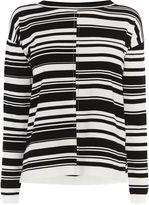 Karen Millen Stripe Jumper - Black & Ivory