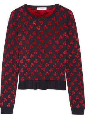 Altuzarra Clifton Ruffle-Trimmed Jacquard-Knit Sweater