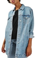 Topshop Women's Longline Denim Jacket