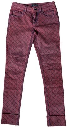 Chanel Burgundy Denim - Jeans Trousers