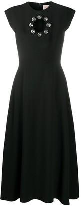 Christopher Kane Crystal-Embellished Cut-Out Dress