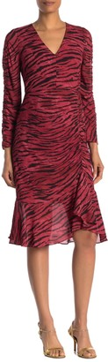 Rachel Roy Anja Animal Print Ruche Dress (Regular & Plus Size)