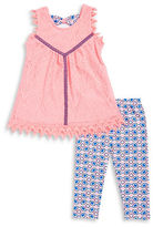 Nannette Girls 2-6x Girl' Lace Tunic and Geometric Leggings Set