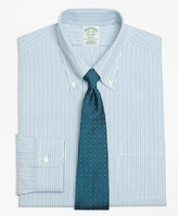 Brooks Brothers Milano Slim-Fit Dress Shirt, Non-Iron Framed Double Stripe