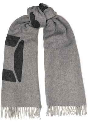 Rag & Bone Classic Fringed Brushed Wool-jacquard Scarf