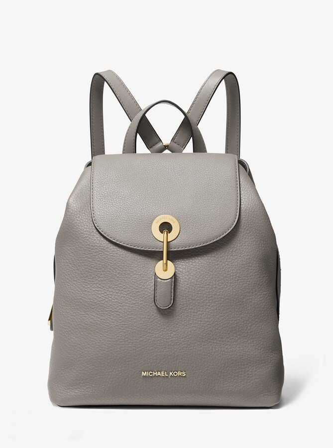 4397b9e65 MICHAEL Michael Kors Gray Pebble Leather Handbags - ShopStyle