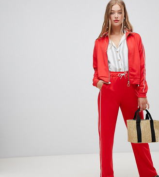 New Look Piped Jogger Co Ord-Red