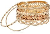 "GUESS Basic"" Gold 7 Piece Mixed Bangle Bracelet"