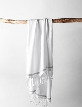 Lulu & Georgia Coyuchi Mediterranean Guest Towel, White