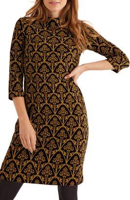 Boden Victoria Jacquard High Neck Dress