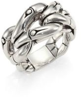 John Hardy Bamboo Sterling Silver Woven Ring