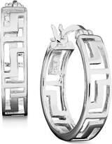 Giani Bernini Sterling Silver Earrings, Greek Key Hoop