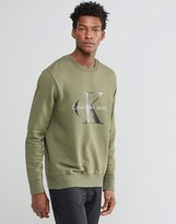 Calvin Klein Jeans 90s Sweatshirt In Khaki